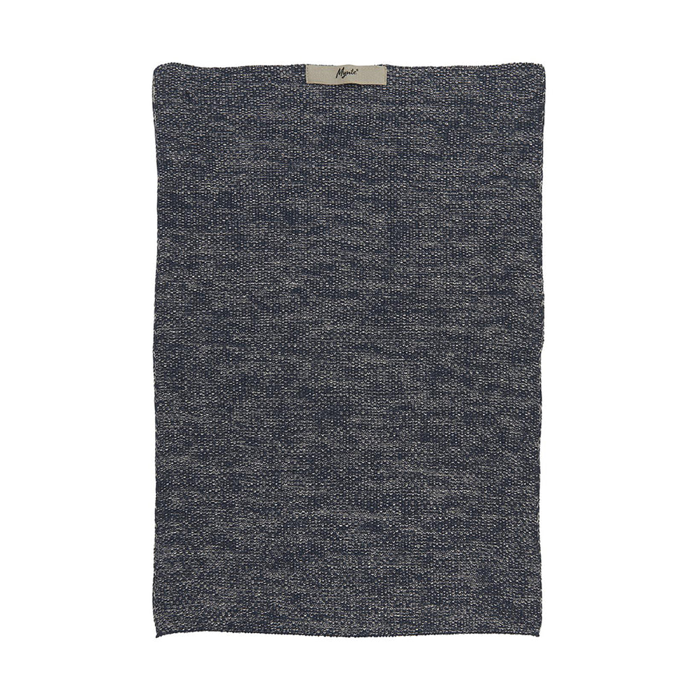 Navy Melange Knitted Cotton Hand Towel