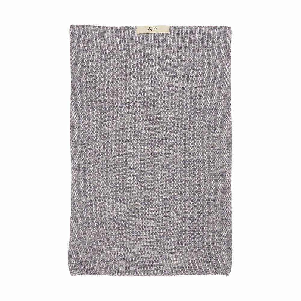 Lavender Purple Melange Knitted Cotton Hand Towel