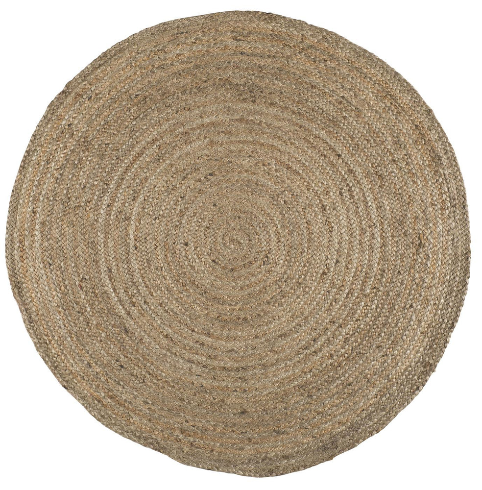 Load image into Gallery viewer, Natural jute rug - round 120cm