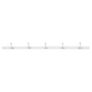 Load image into Gallery viewer, White Metal 5 Hook Coat Rack