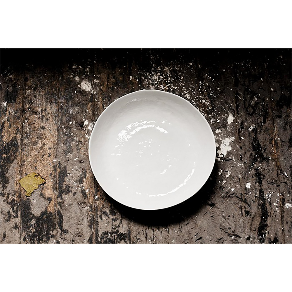 White Dimple Salad Bowl