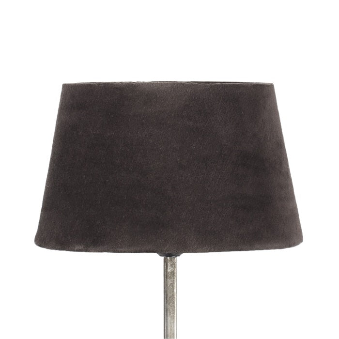 Small-brown-velvet-lamp-shade