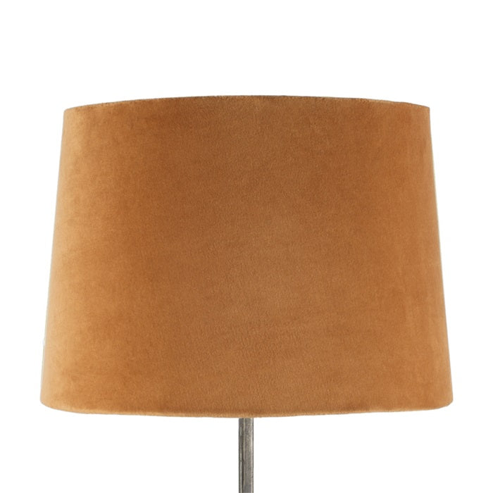 Large-orange-velvet-lamp-shade-drum-shaped
