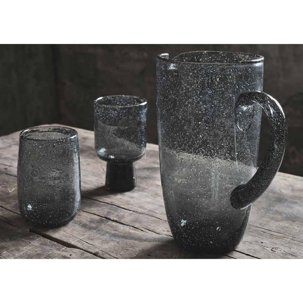 "Grey Glass ""Bari"" Bubble Jug"