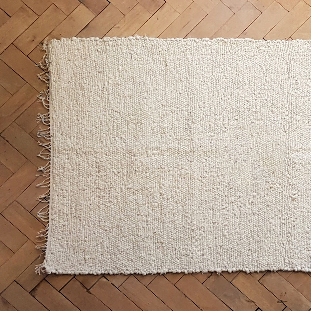 Load image into Gallery viewer, 210 X 120 Cm Unbleached Cotton Durry Rug