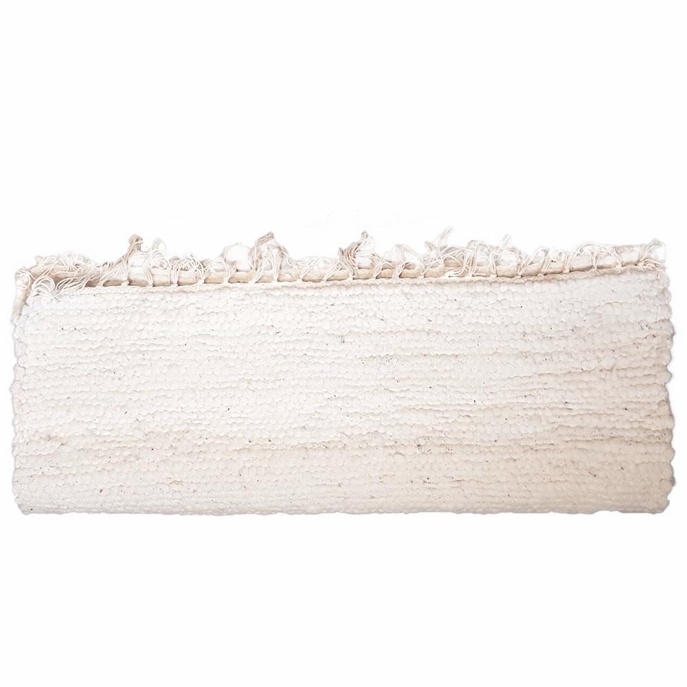 Load image into Gallery viewer, 120 x 60cm Unbleached Cotton Durry Rug