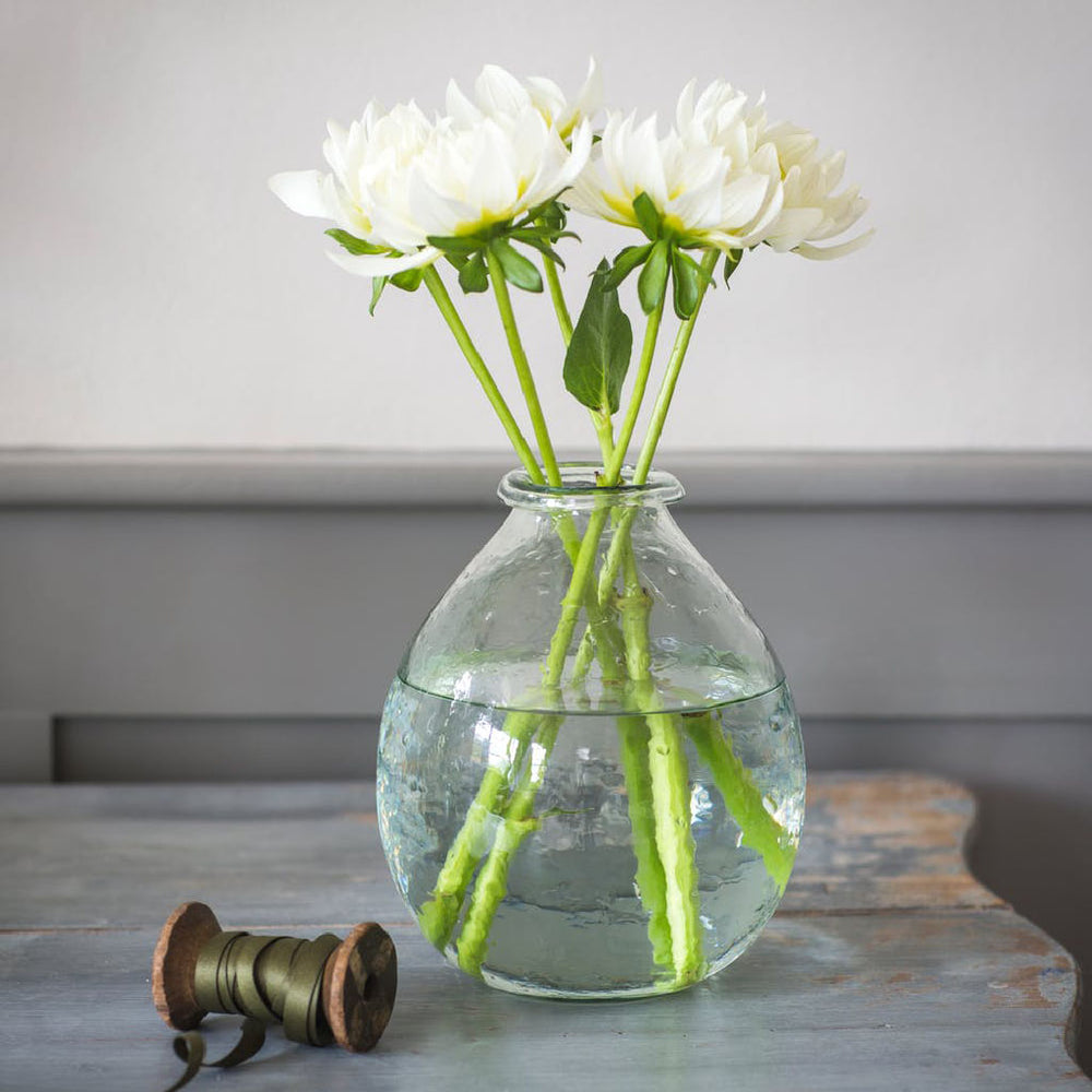 Teardrop Vase - 100% recycled glass