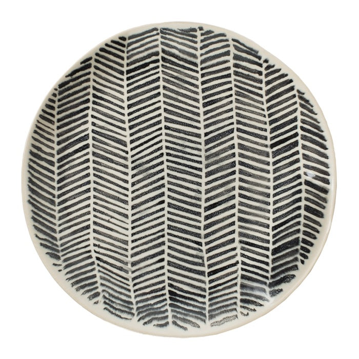 Load image into Gallery viewer, Olsson-Jensen-Astrid-stipes-herringbone-lunch-plate-deco-shop