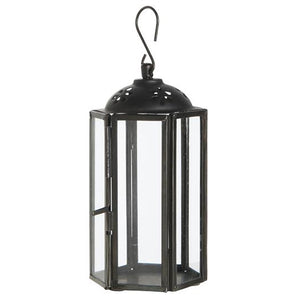 Load image into Gallery viewer, Mini Black Hexagonal Lantern