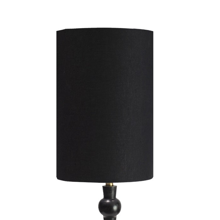 "Load image into Gallery viewer, ""Liquorice"" Medium Black Cylinder Lampshade"