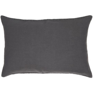 40 x 60cm Charcoal Black Cotton Linen Cushion Cover