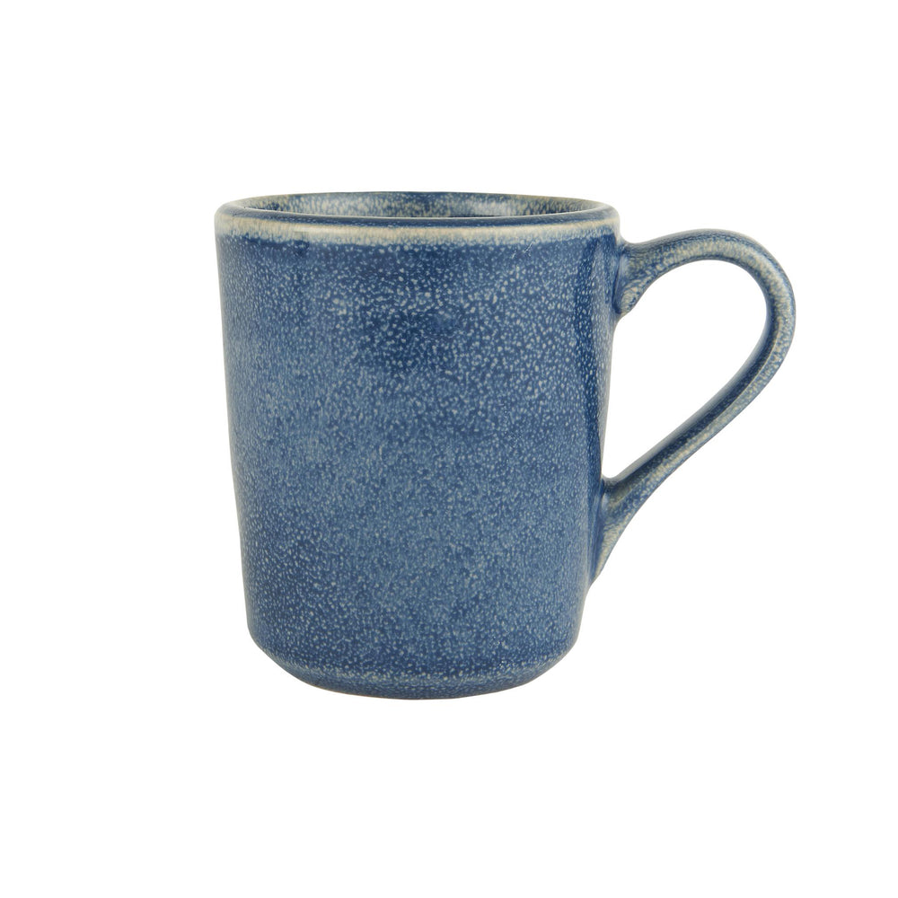Ocean Blue stoneware mug with a handle and Hand glazed mottled effect.