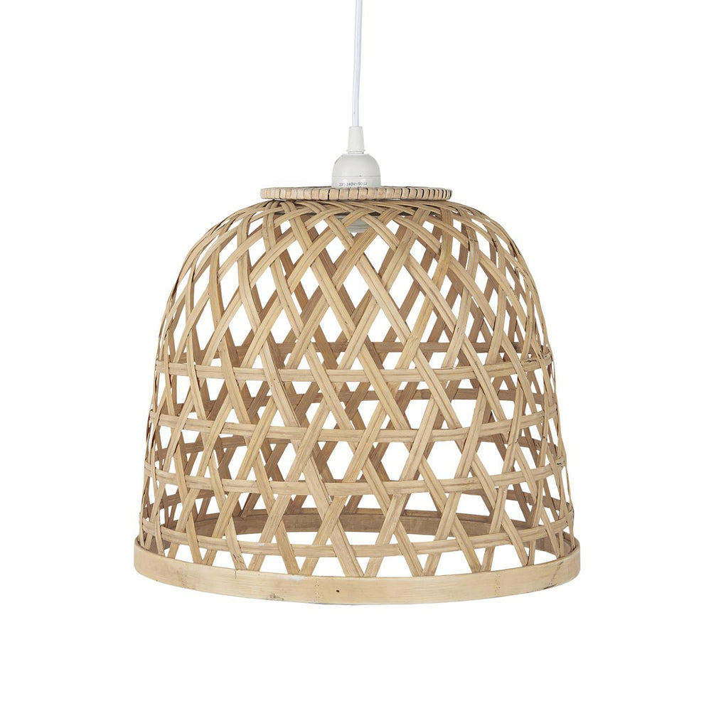 Woven Bamboo Hanging Lampshade, 29 cm x 34 cm