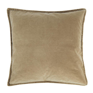 Load image into Gallery viewer, Cognac coloured square velvet cushion cover.