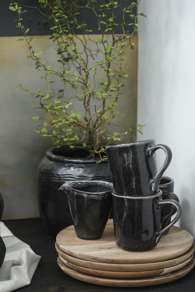 Load image into Gallery viewer, Mini pitcher with spout - antique black dunes