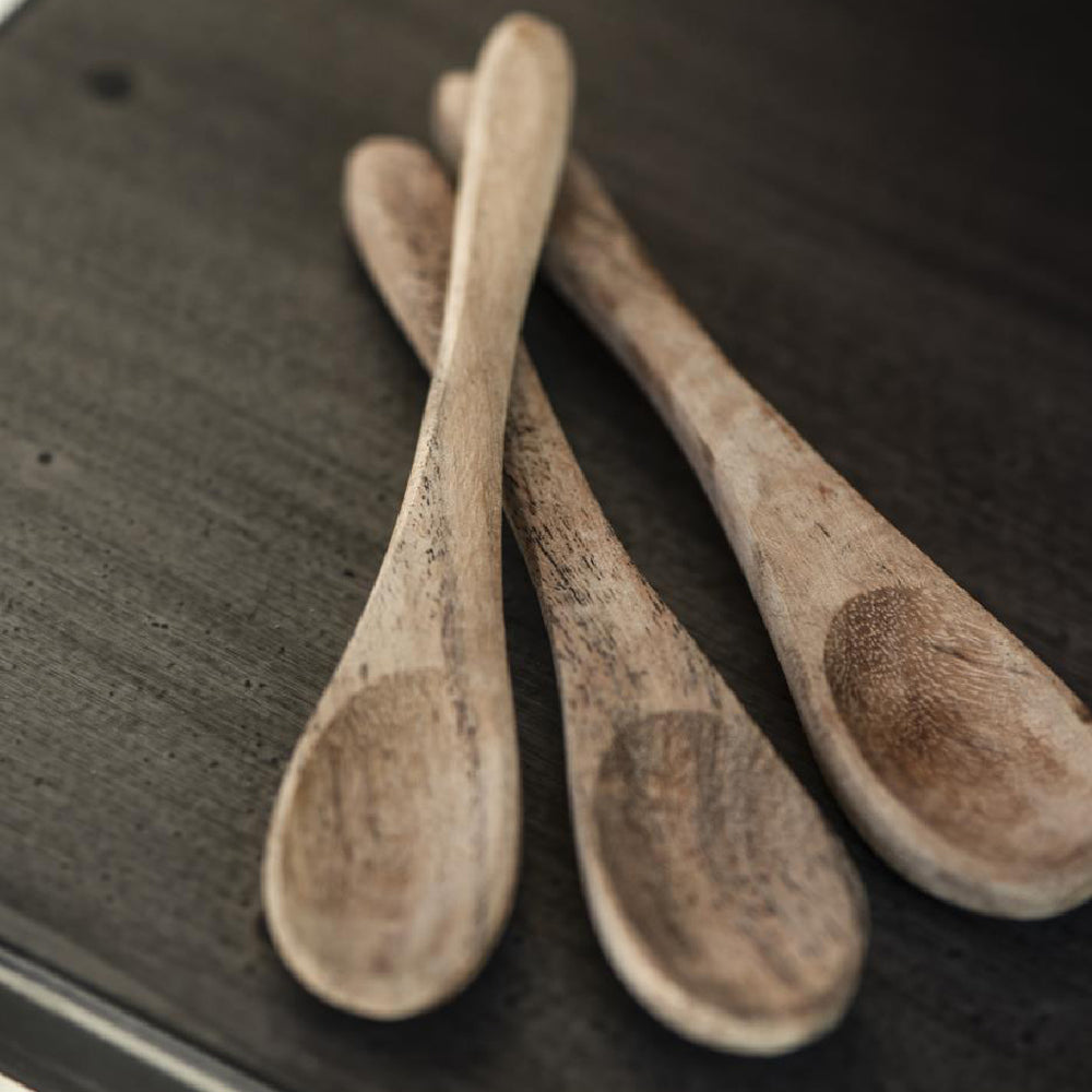 Small Rustic Acacia Wood Spoon