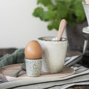 Load image into Gallery viewer, Rustic Stoneware Ceramic Egg Cup