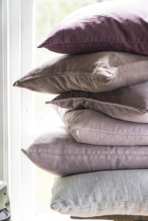 40 x 60cm Aubergine Cotton Linen Cushion Cover