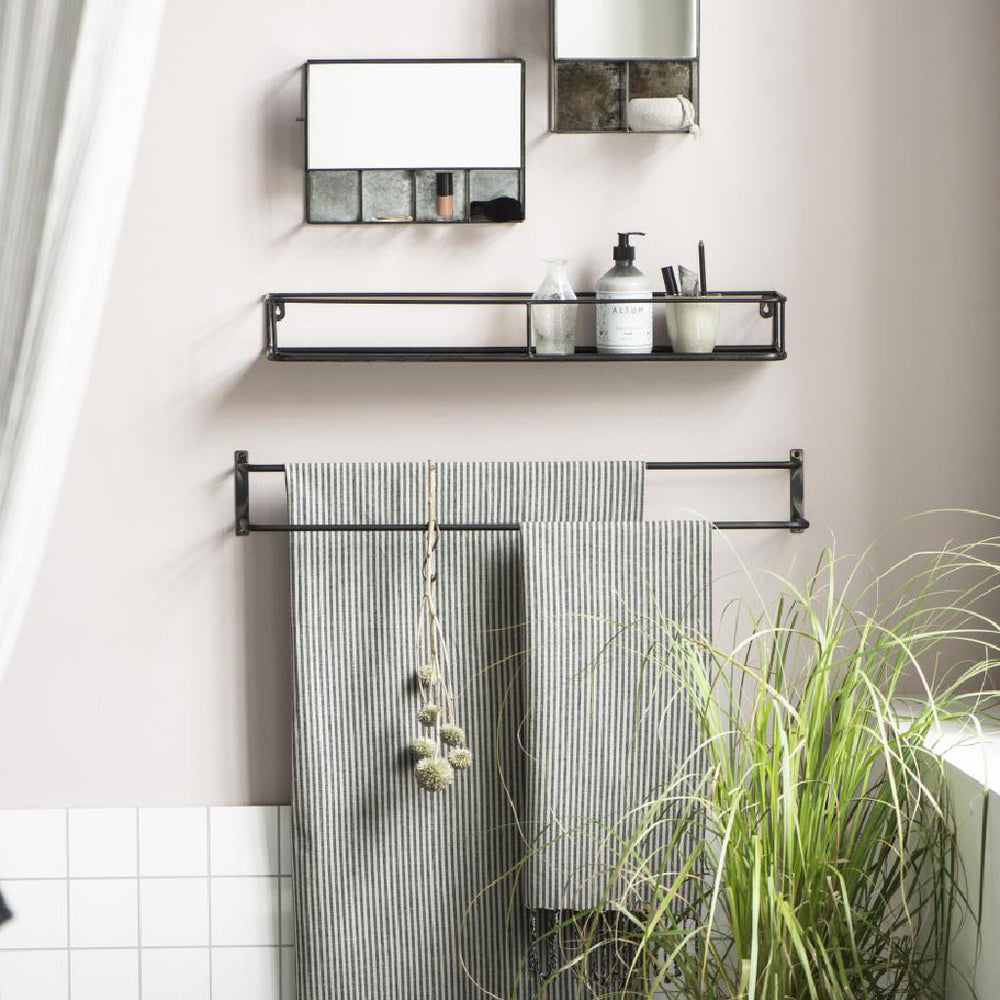 Load image into Gallery viewer, Double Bar Metal Towel Rail 12 x 81 cm
