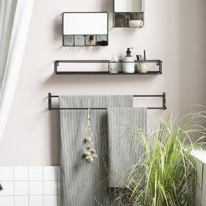 Double Bar Metal Towel Rail 12 x 81 cm