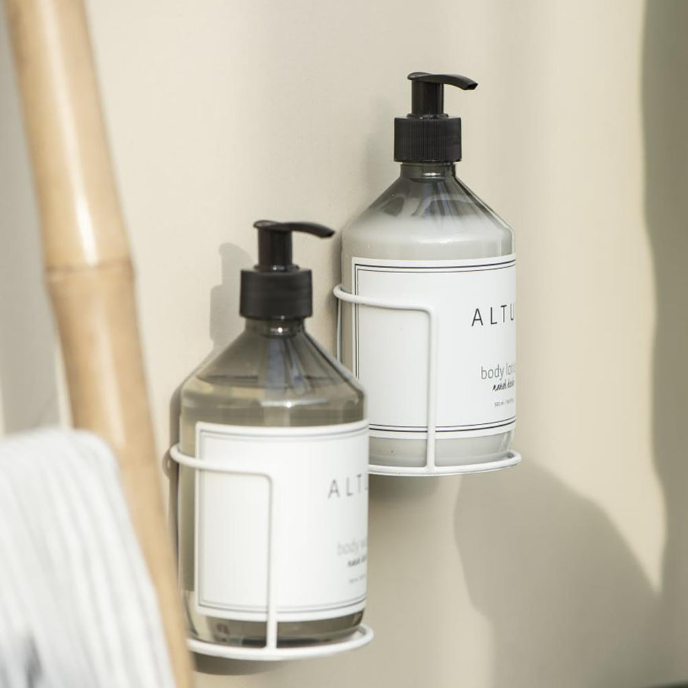 Metal Wall Fixed Soap Bottle Holder