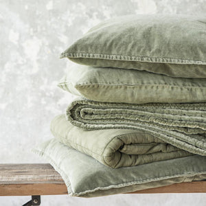 Olive Green Linen Cotton Cushion Cover