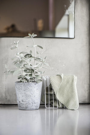Tall White Wire Basket