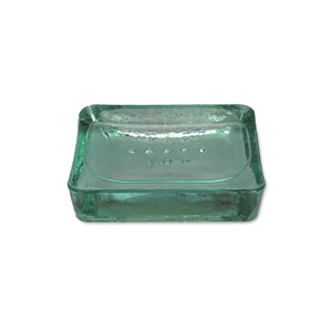 Recycled Glass Wells Soap Dish