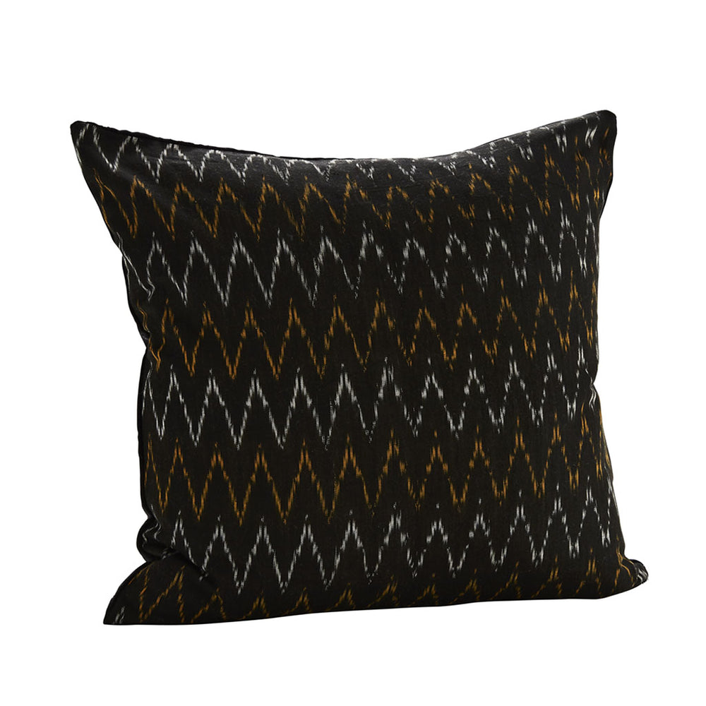 50 X 50 cm Ikat Weave Cotton Cushion Cover With Black Velvet Backing