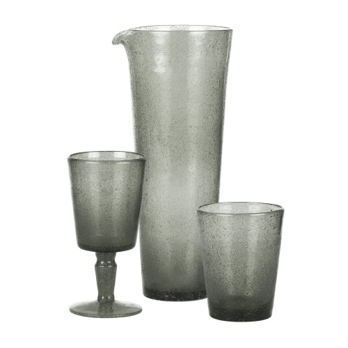 Set of Two Charcoal Grey Matilda Bubble Glasses