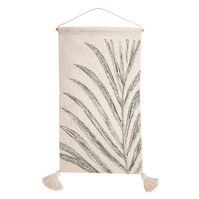 Woven Wall-Hanging With Leaf Motif