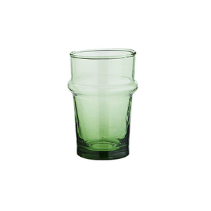 Set of 6 Emerald Green Beldi Glasses, Medium