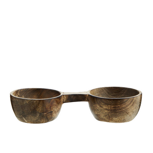 Load image into Gallery viewer, Wooden Tandem Salt & Pepper bowls