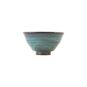 Set of 2 Blue/Green Glaze Handmade Terracotta Bowls