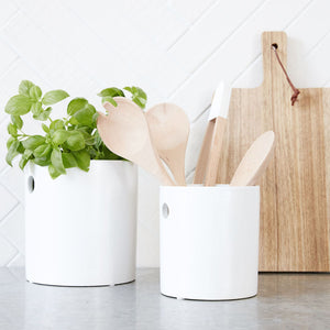 Load image into Gallery viewer, White Cutlery Jar