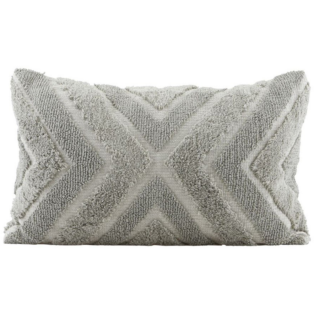 40 x 60 cm Grey Textured Cushion Cover
