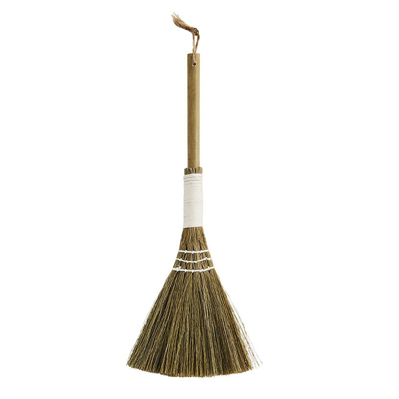 Straw Broom with Bamboo Handle, 30 cm