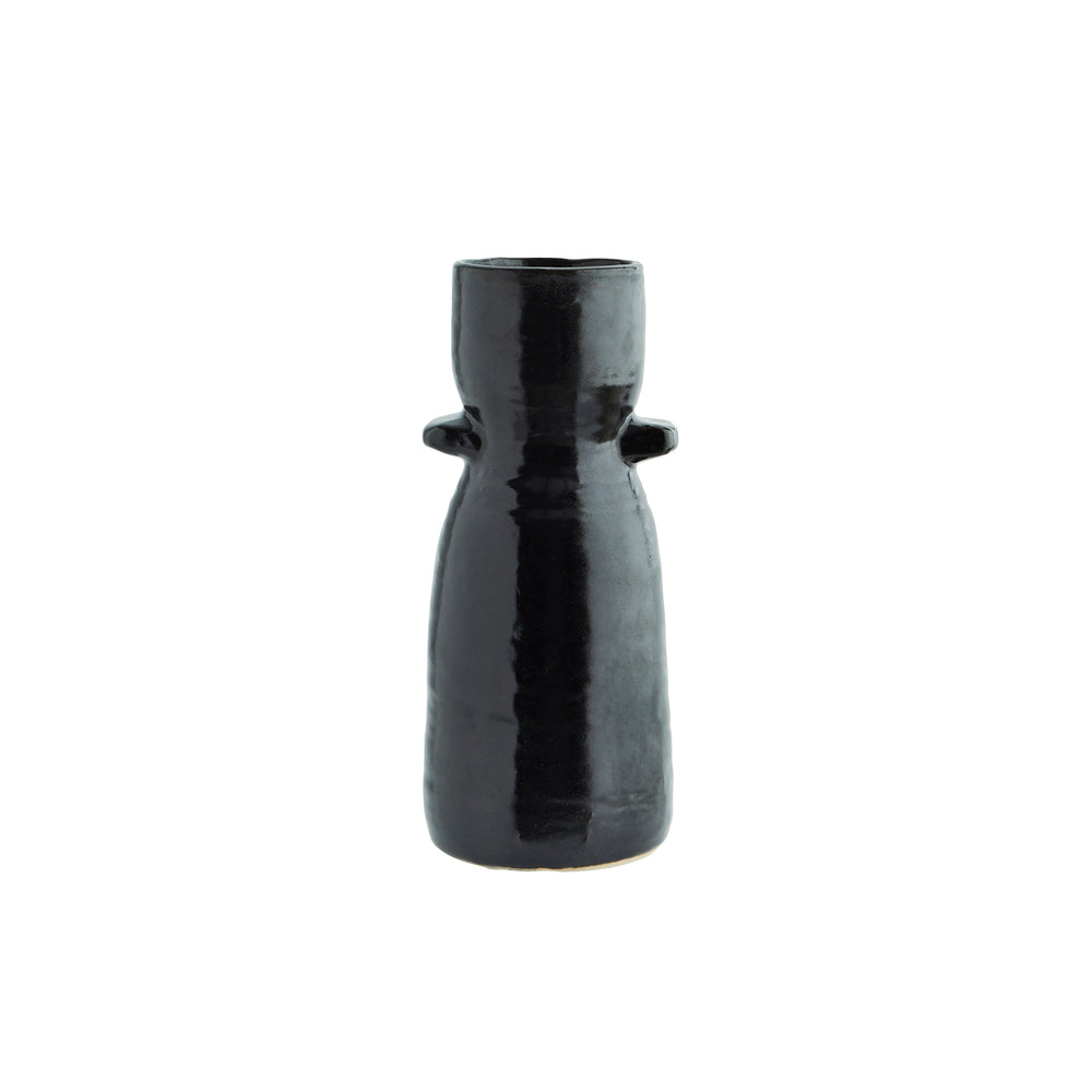 Load image into Gallery viewer, Black Milk Vessel Vase,Tall