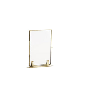 Brass Photo Frame on Foot, 10 x 15 cm