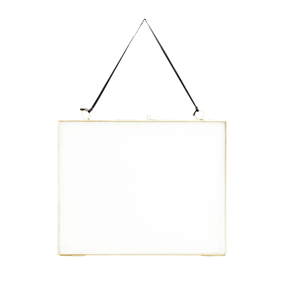 Brass Hanging Picture Photo Frame, 20 x 25 cm