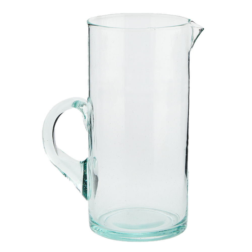 Hand Blown Recycled Glass Beldi Jug
