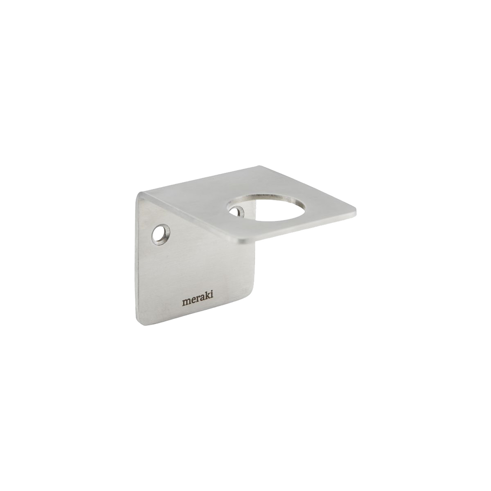 Simple bracket for wall mounting soap dispencer bottle. Silver finish. Meraki. House Doctor.