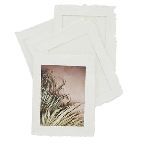 Set of 6 Handmade Paper Pulp Picture Frames, 13 x 18 cm