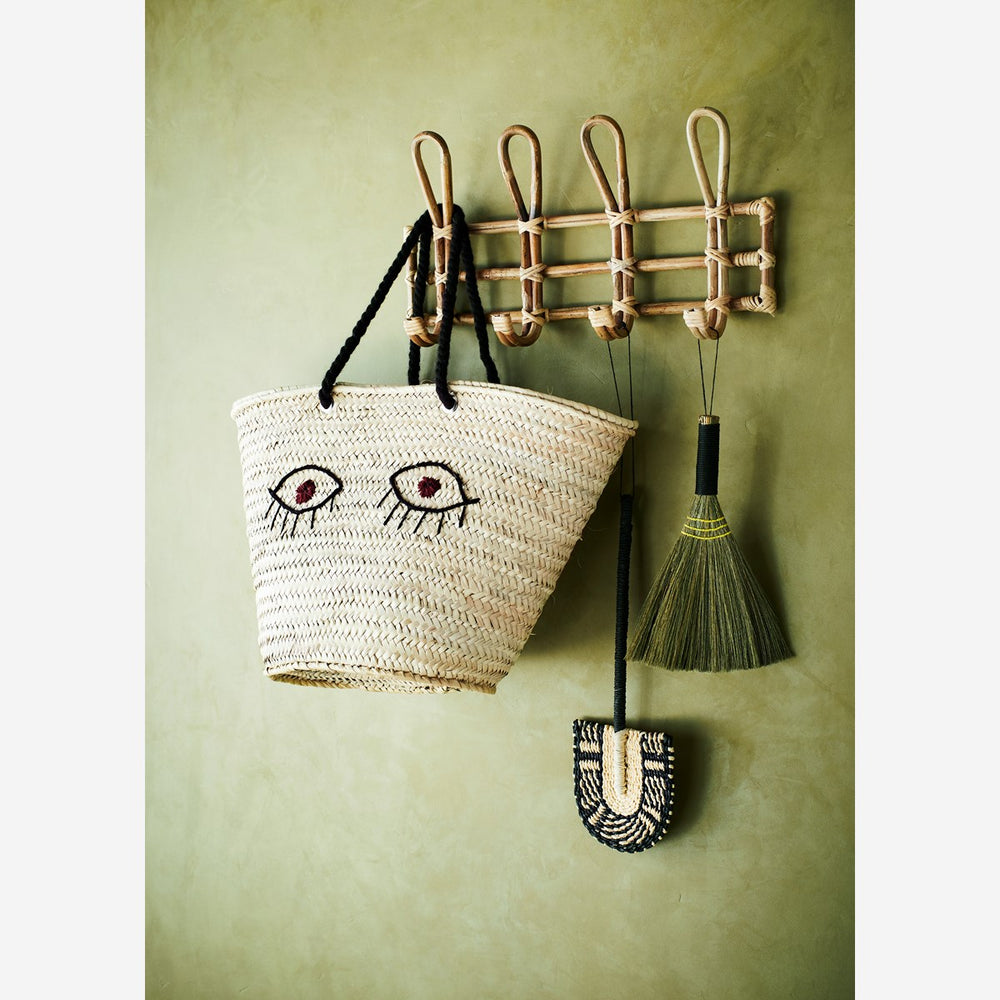Bamboo Coat Hanger Hook Rack