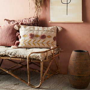 Dusty Rose Cushion Cover with Tassles 40 x 60 cm