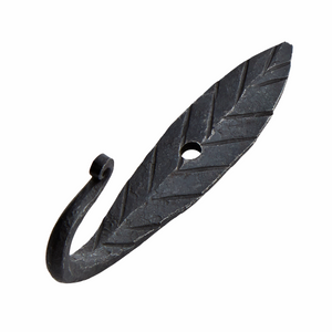 Load image into Gallery viewer, Set of 2 Hand Forged Iron Leaf Hooks