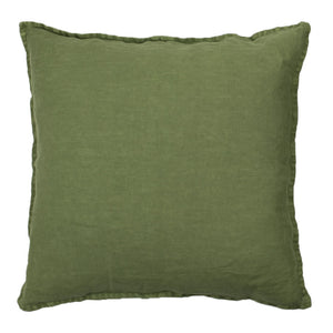 50 x 50 cm Lena Army Green Linen Cushion Cover