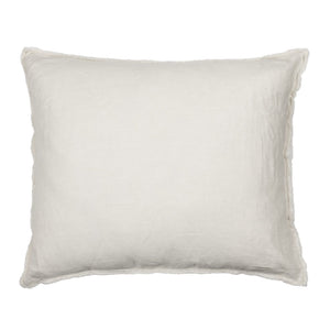 50 x 60 cm Light Beige Linen Cushion Cover with Frayed Edges