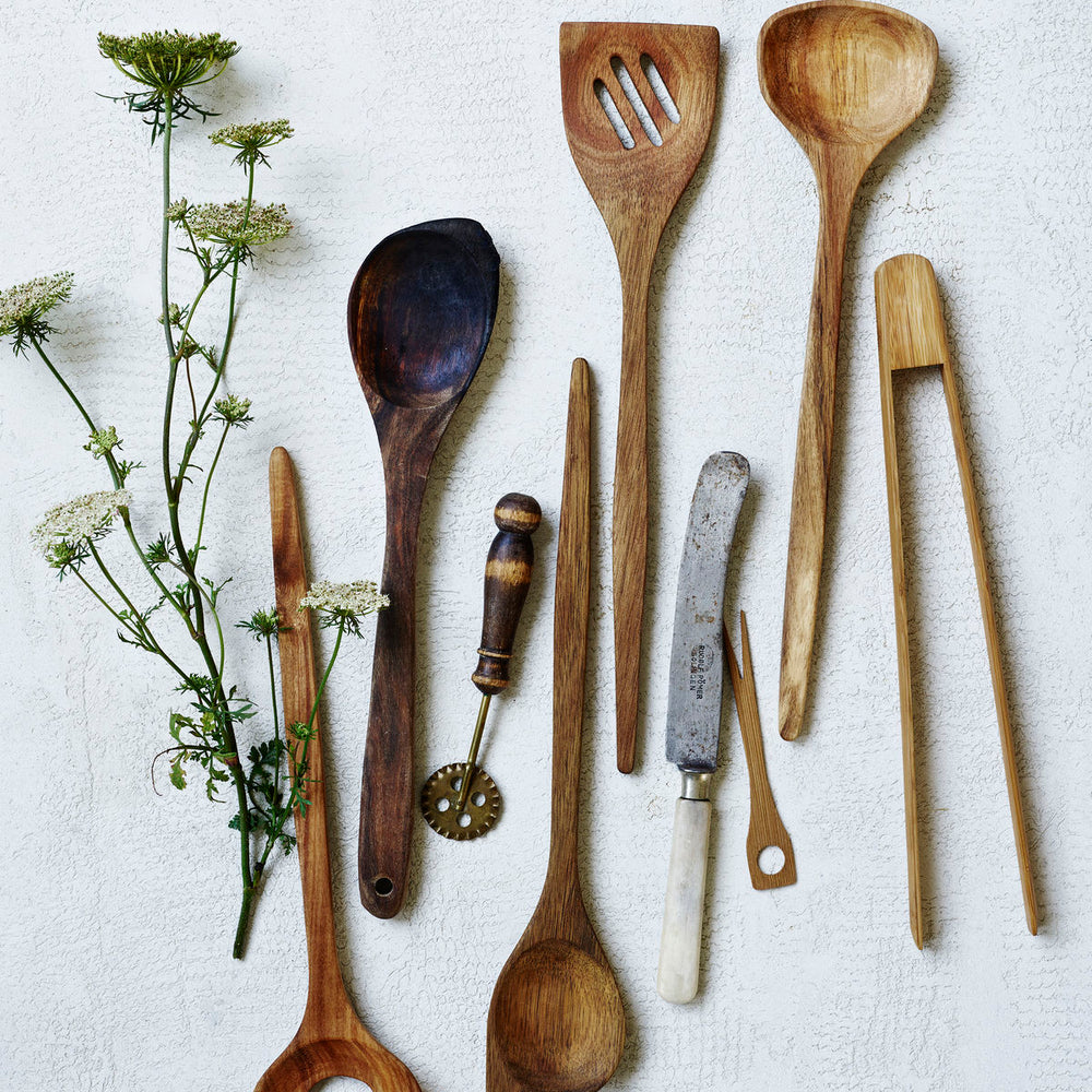 Load image into Gallery viewer, Acacia Wood Salad Spoon Set