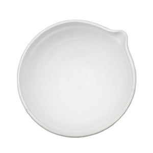 White Ceramic Salad Bowl with Lip